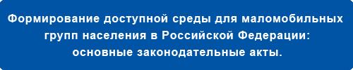 Формирование доступной среды в РФ.